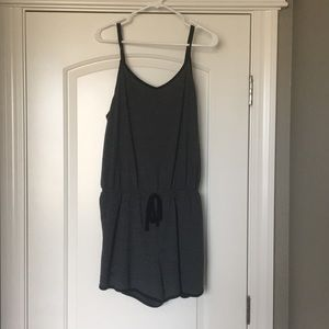 Back and Gray romper size XXL